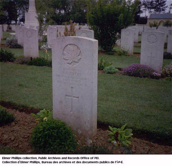 Grave marker for E.A. Ripley