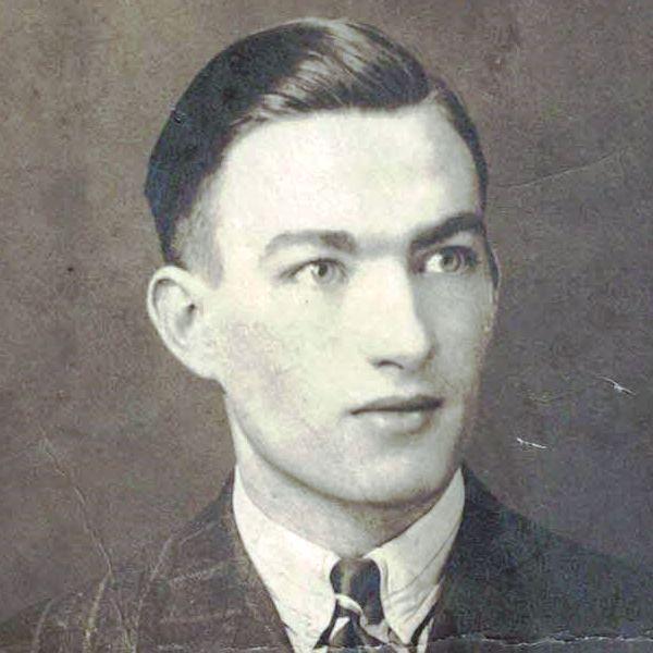 Photo of John Montgomery Simpson– John M. Simpson ca, 1939. Age 18. Employed as Jewelry Polisher or Jeweler's Apprentice.