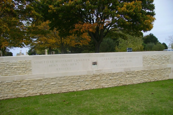 Cemetery– Entrance - Beny-sur-Mer Canadian War Cemetery … photo courtesy of Marg Liessens