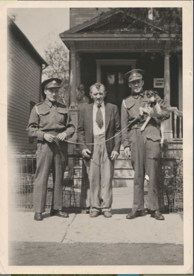 Photo of EDWARD THOMSEN– L - R Edward, Christian (father) and Maurice Taylor. Submitted for the project Operation Picture Me