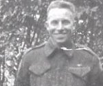 Photo of Thomas Edward Tidy– Lance Sergeant Tidy enlisted with The Queen's Own Rifles in June 1940. He served with the Regt in Newfoundland, New Brunswick and in England. He was in BHQ as a Signaller and landed on D-Day. Lance Sergeant Tidy was killed at Carpiquet Airfield (west of Caen).