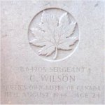 Grave Marker– This photo of Sgt Wilson's gravemarker was taken by Padre Craig Cameron of the QOR of C in June 1997.