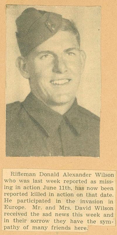 Photo of DONALD ALEXANDER WILSON
