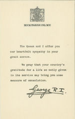 Letter from King George VI