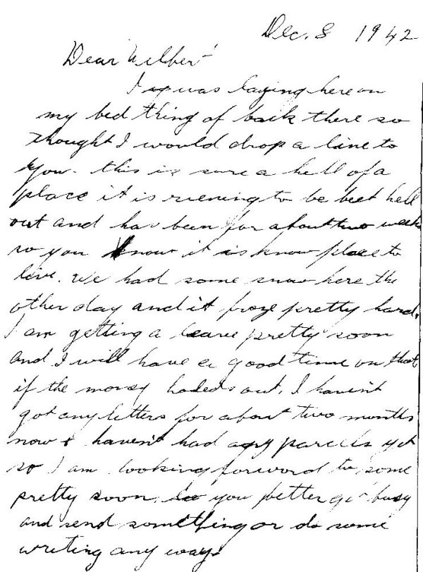 Letter from Archie - page 1