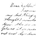 Letter from Archie - page 1– This letter was sent from Archie to his brother-in-law in December 1942.