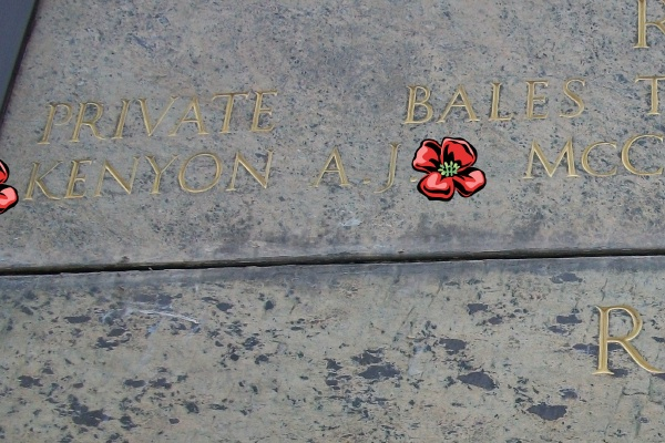 Inscription– Inscription on the Cassino Memorial - located within the Cassino War Cemetery - May 2013 ... Photo courtesy of Marg Liessens