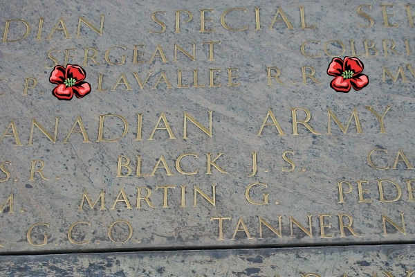 Inscription– Inscription on the Cassino Memorial - located within the Cassino War Cemetery - May 2013 Photo courtesy of Marg Liessens