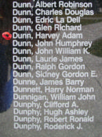 Memorial– Flight Sergeant Harvey Adam Dunn is also commemorated on the Bomber Command Memorial Wall in Nanton, AB … photo courtesy of Marg Liessens