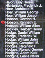 Memorial– Pilot Officer Kenneth Edward Hobson is also commemorated on the Bomber Command Memorial Wall in Nanton, AB … photo courtesy of Marg Liessens