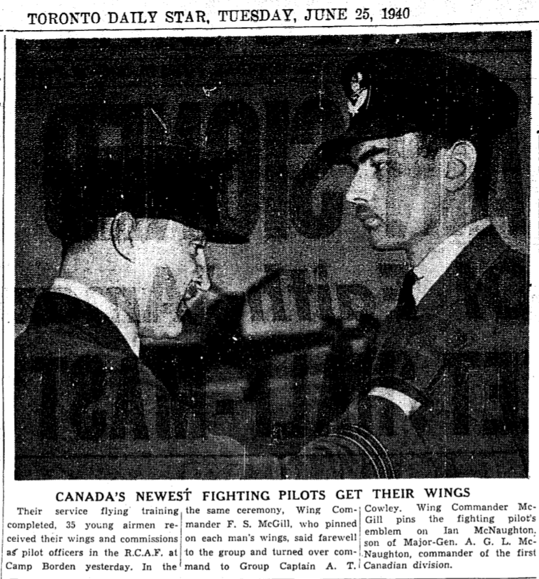 Newspaper clipping– From the Toronto Star June 1940. Submitted for the project Operation Picture Me