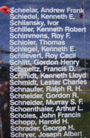 Memorial– Flight Lieutenant Andrew Frank Scheelar is also commemorated on the Bomber Command Memorial Wall in Nanton, AB … photo courtesy of Marg Liessens