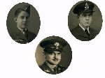 Hergott Brothers– Hergott Brothers, Sons of Peter & Emma Hergott of Waterloo, ON, Canada (top left: Wilbert (died 1942), middle: Raymond, top right: Gerard (died 1944).