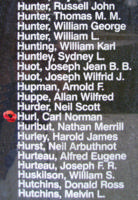 Memorial– Warrant Officer Class I Carl Norman Hurl is also commemorated on the Bomber Command Memorial Wall in Nanton, AB … photo courtesy of Marg Liessens