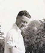 """Photo of Harold James Hurley– Uncle Hal"""" while """"on leave""""."""