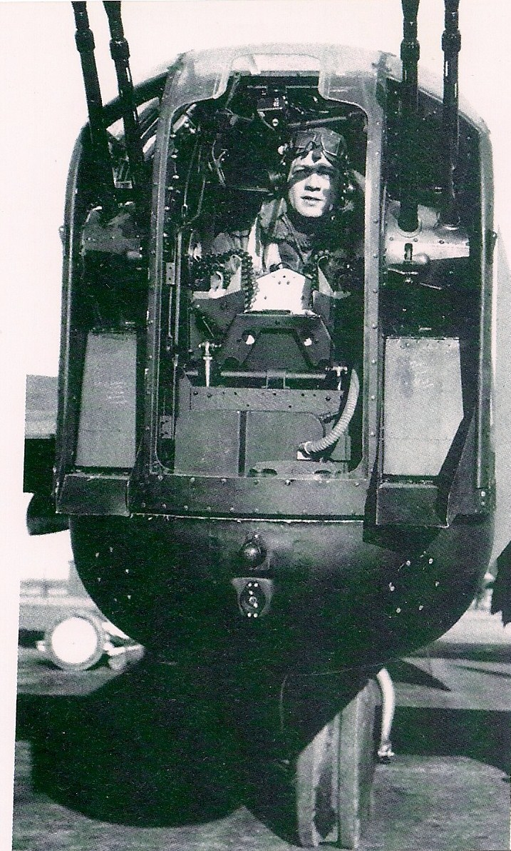 "Photo of Nuncie Leone– This picture was in the photo album of another rear gunner from 425 Alouette. I always thought it was him. I found recently in a book that same picture which clearly identifies this rear gunner as Nuncie ""Nick"" Leone from 405 Squadron shot down on January 14, 1944."