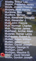 Memorial– Flight Sergeant David Sinclair Mullin is also commemorated on the Bomber Command Memorial Wall in Nanton, AB … photo courtesy of Marg Liessens