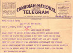 Telegram– Next comes the reality 'from Canadian National in a 'Telegram' dated April 26th 12:44AM, 1944 is reported as having lost his life January 14th, 1944.