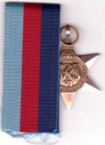 Medals– David Powley's medals 1939-45 Service Star