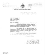 Letter– Mrs. David Powley's letter noting David Powley's death and re- internment to Hannover Germany dated April 17th, 1947