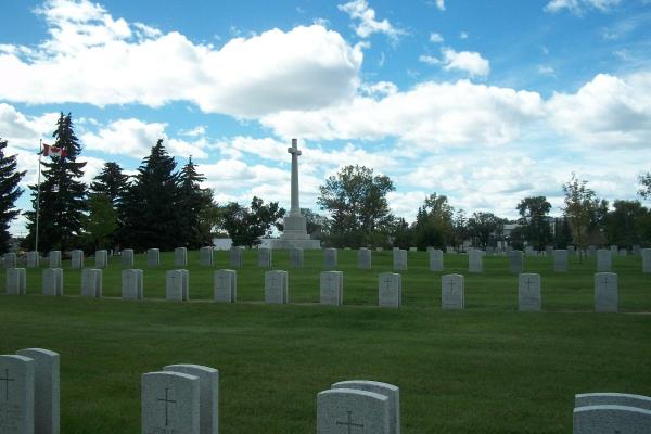 Cross of Sacrifice– Cross of Sacrifice … Calgary Burnsland Cemetery … Photo courtesy of Marg Liessens