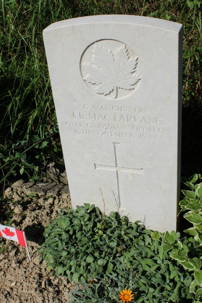Grave Marker– Gradara War Cemetery - May 2013