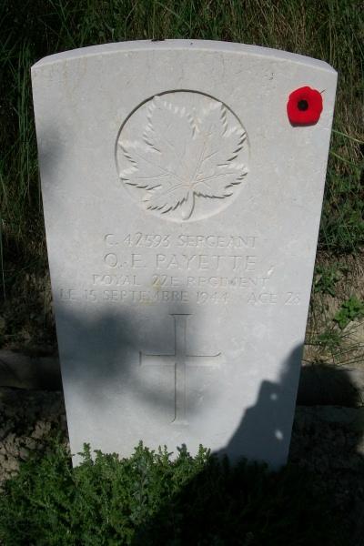Grave Marker– Grave marker - Gradara War Cemetery - May 2013 ... Photo courtesy of Marg Liessens