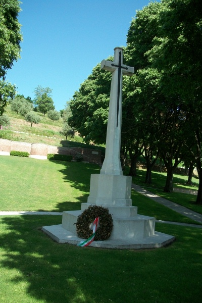 Cemetery– Cross of Sacrifice - Gradara War Cemetery - May 2013 Photo courtesy of Marg Liessens