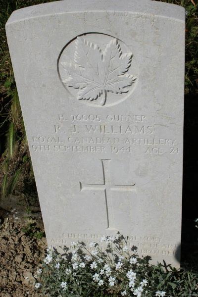 Grave Marker– Grave marker - Gradara War Cemetery - May 2013
