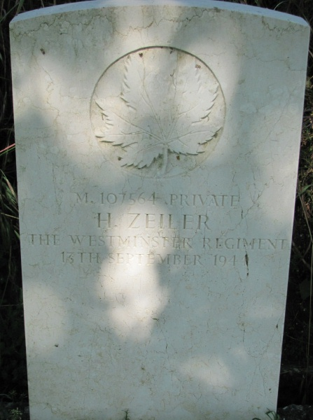 Grave Marker– Grave marker - Gradara War Cemetery - May 2013