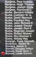 Memorial– Pilot Officer Leslie Gordon Emanuel Burnett is also commemorated on the Bomber Command Memorial Wall in Nanton, AB … photo courtesy of Marg Liessens