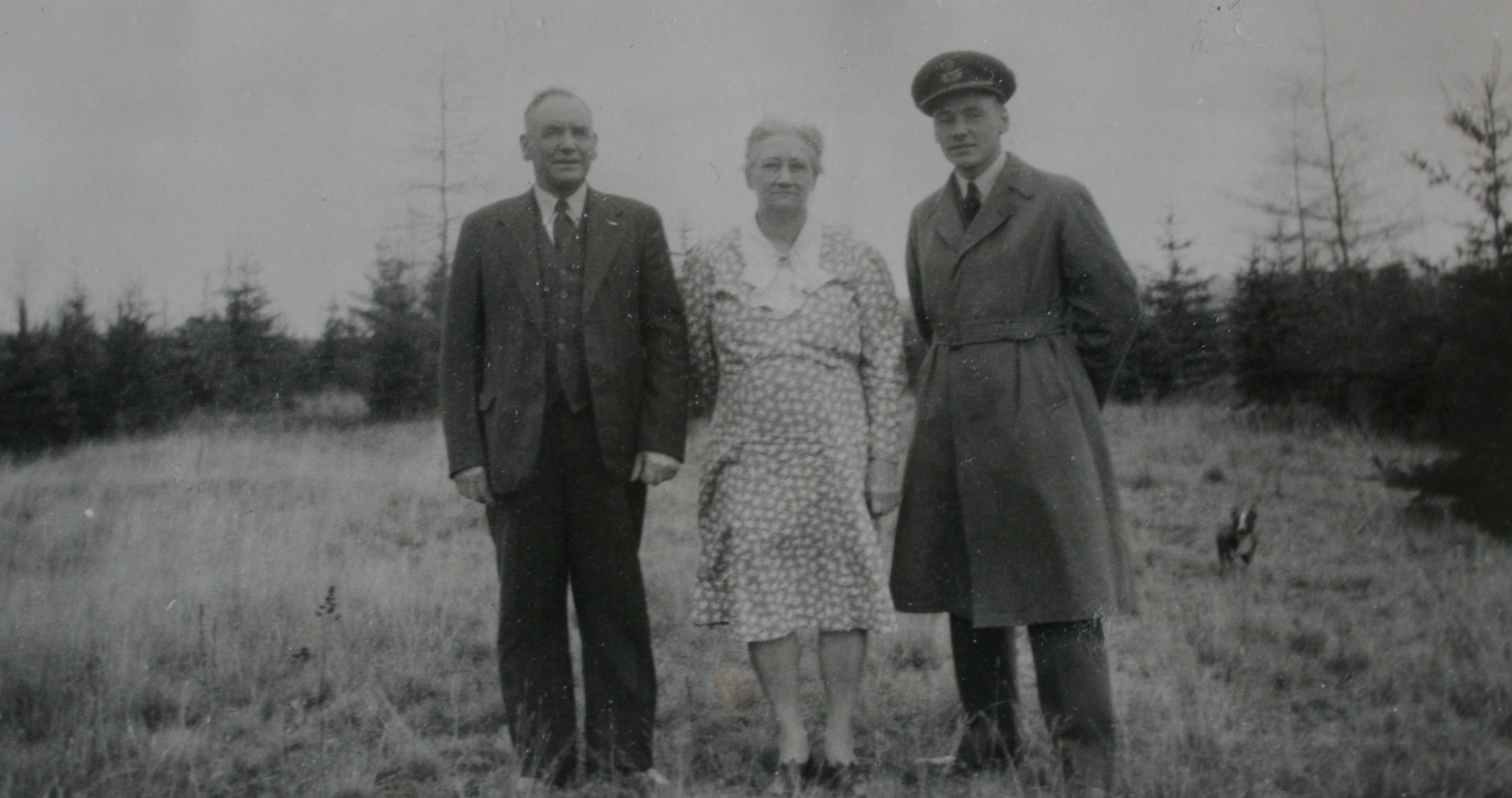 Gerald with his parents, William and Bertha Conroy.