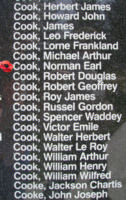 Memorial– Pilot Officer Norman Earl Cook is also commemorated on the Bomber Command Memorial Wall in Nanton, AB … photo courtesy of Marg Liessens