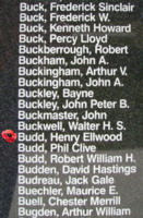 Memorial– Warrant Officer Class II Henry Ellwood Budd is also commemorated on the Bomber Command Memorial Wall in Nanton, AB … photo courtesy of Marg Liessens