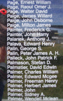 Memorial– Warrant Officer Class I Walter David Page is also commemorated on the Bomber Command Memorial Wall in Nanton, AB … photo courtesy of Marg Liessens