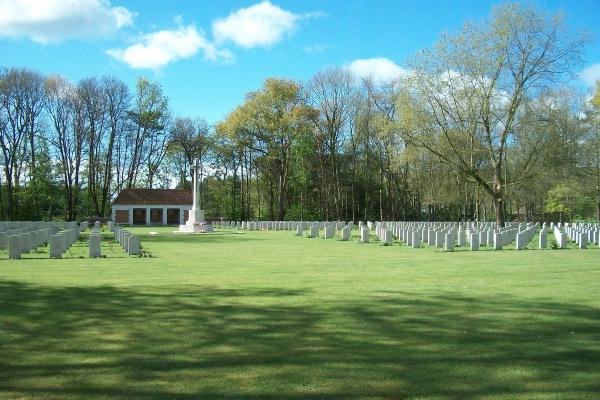 Cemetery– Adegem Canadian War Cemetery - April 2017 … photo courtesy of Marg Liessens