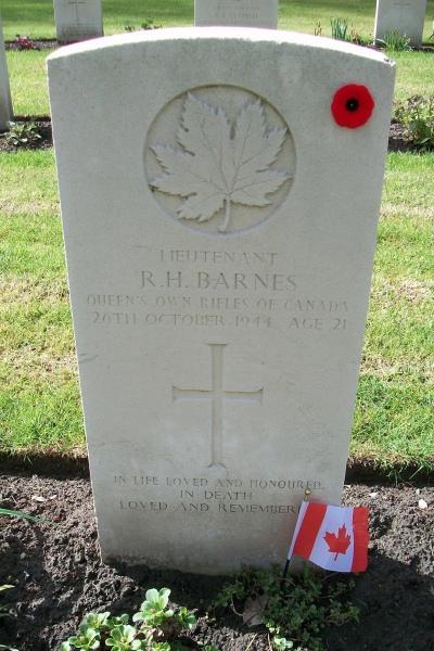 Grave Marker– Adegem Canadian War Cemetery - April 2017 … photo courtesy of Marg Liessens