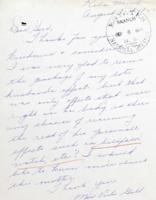 Letter– Letter from Mrs. Viola Gill, widow.  LAC, Ottawa