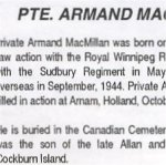 Newspaper Clipping– This obituary of Rfn MacMillan appeared in the same issue as the photo in this collection.