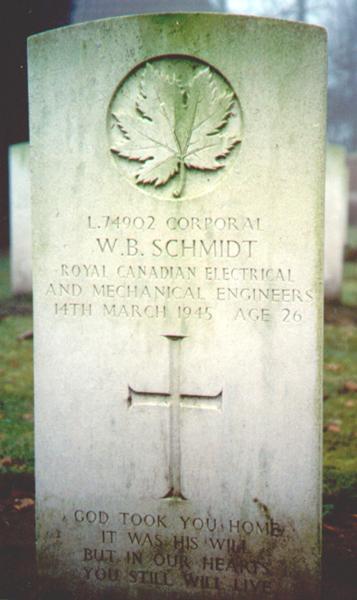 Walter's Headstone at Adegem Cemetery