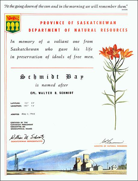 Schmidt Bay Certificate
