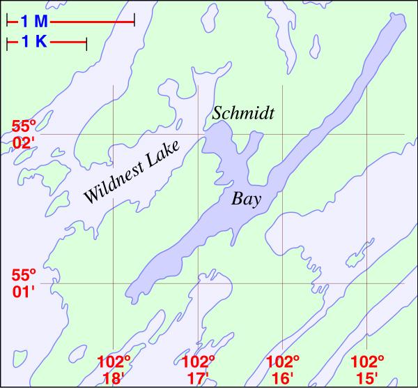 Schmidt Bay Local Area Map