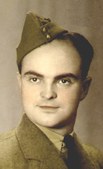 """Photo of Walter B. Schmidt– Walter Schmidt was born near Glentworth, Saskatchewan on July 4th, 1918. He attended Twin Valley Public School, and Consul High School. Walter enrolled on November 22nd, 1940 with the South Saskatchewan Regiment and completed basic training on December 20th, 1940. He was called for active duty in January 1942, and assigned to the Royal Canadian Ordinance Corps, training in Hamilton, Ontario. Upon completion of training, he was dispatched to England aboard the Liner Queen Elizabeth, leaving at the end of March, 1943, arriving in Glasgow, Scotland, on April 3rd. Prior to embarking to Europe in 1944, the unit was changed to the Royal Canadian Electrical and Mechanical Engineers. Walter was the oldest son of Antonie and Leopold Schmidt of Windsor, Ontario, and formerly of Glentworth, Saskatchewan. At the time of death was survived by two brothers, Frank (Royal Canadian Air Force) and Ted, and eight sisters, Margaret, Mary, Anne, Elsie, Hilda, Violet, Adeline and Dolores. Walter's passion and hobby was music. He enjoyed playing piano, singing, writing music and poems. Signed all of his letters home with the same words """"Just Me Walter"""". Last known to be seen repairing the """"Gas Works"""" in Nymegen, Holland, late in February, 1945. He was a proud Canadian, and served his country well. God Rest His Soul. Photos and captions assembled by Walter's family, notably brother Ted and nephews Gerhardt, Gary and Harold. Much of the information was easy to find, due to prior efforts by sisters Mary, Anne, and mother Antonie."""
