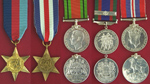 Walter's War Medals– Left to right: The 1939-1945 Star; The France and Germany Star; The Defence Medal; Canadian Volunteer Service Medal; The War Medal 1939-1945. The medals shown in this picture are from the Canadian Military Medals and Decorations section of the Veterans Affairs Canada website.