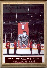 Remembering Albert Tilson– Raising of the banner, retirement of Red's Oshawa General's Jersey during Rememberance / Red Tilson Celebrations at the General Motors Centre, November 12, 2006