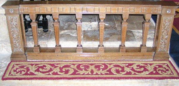 Altar rail