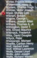 Memorial– Sergeant Murray Lyle Wiper is also commemorated on the Bomber Command Memorial Wall in Nanton, AB … photo courtesy of Marg Liessens