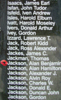 Memorial– Flight Sergeant Allan Benjamin Jackson is also commemorated on the Bomber Command Memorial Wall in Nanton, AB … photo courtesy of Marg Liessens