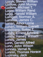 Memorial– Flying Officer Michael Thomas Robert Ludlow is also commemorated on the Bomber Command Memorial Wall in Nanton, AB … photo courtesy of Marg Liessens