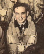 Photo of Frederick Leonard Meredith– Image taken from crew photograph of Lancaster bomber LM751, PG-X of 619 Squadron RAF